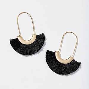 New Ann Taylor Loft Fringe Fan Earrings